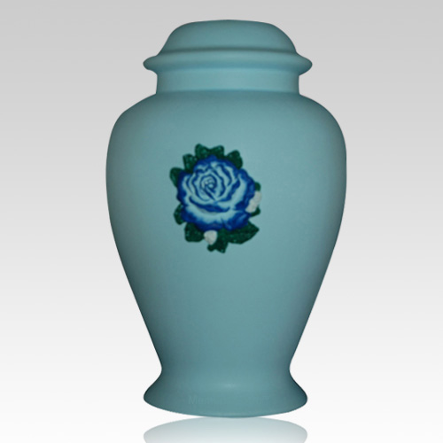 Charity Blue Ceramic Cremation Urn