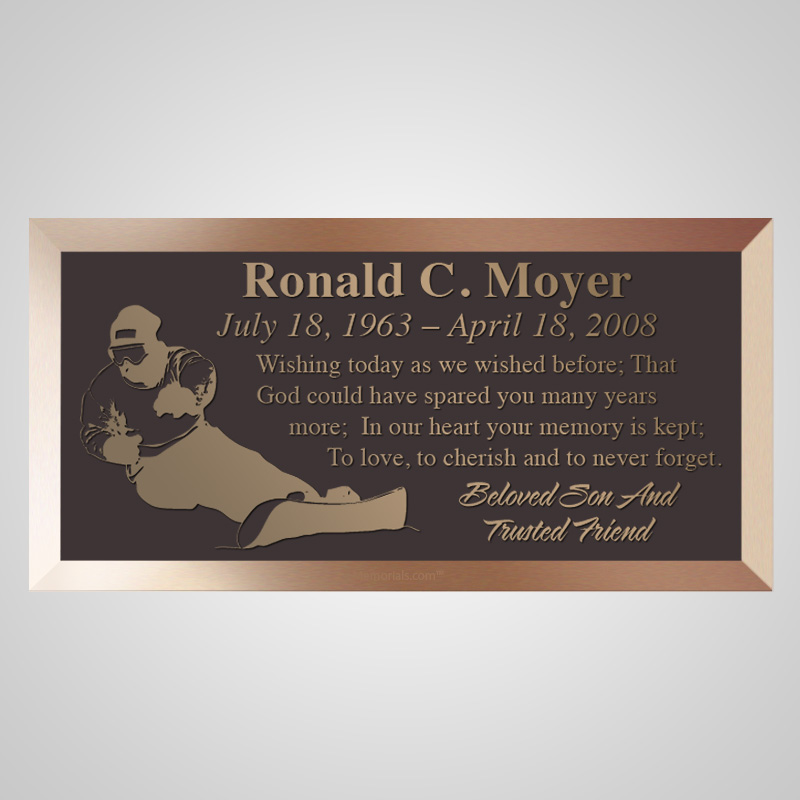 Snowboarder Bronze Plaque