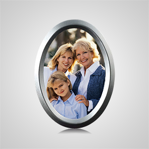 Medium Oval Silver Picture Frame