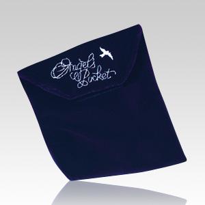 Angel Navy Cremation & Burial Pocket - Large