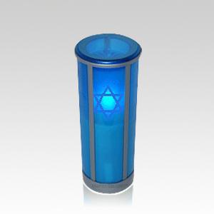 Azul Star of David Legacy Memorial Candle