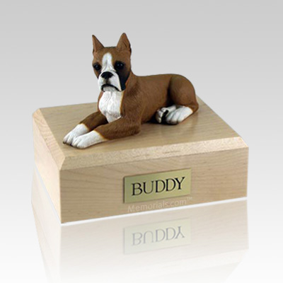 Boxer Fawn Ears Up X Large Dog Urn