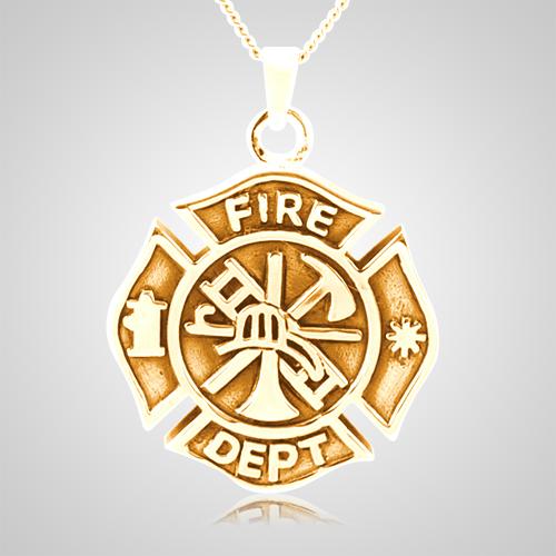Fire Department Keepsake Pendant II