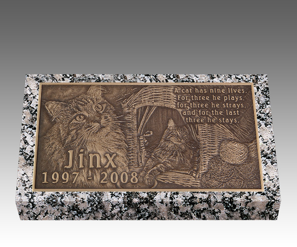 Pet Bronze Grave Marker