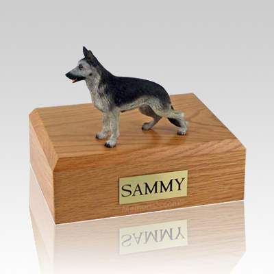 German Shepherd Black & Silver Dog Urns