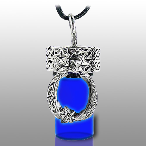 Moon Blue Pet Cremation Necklace