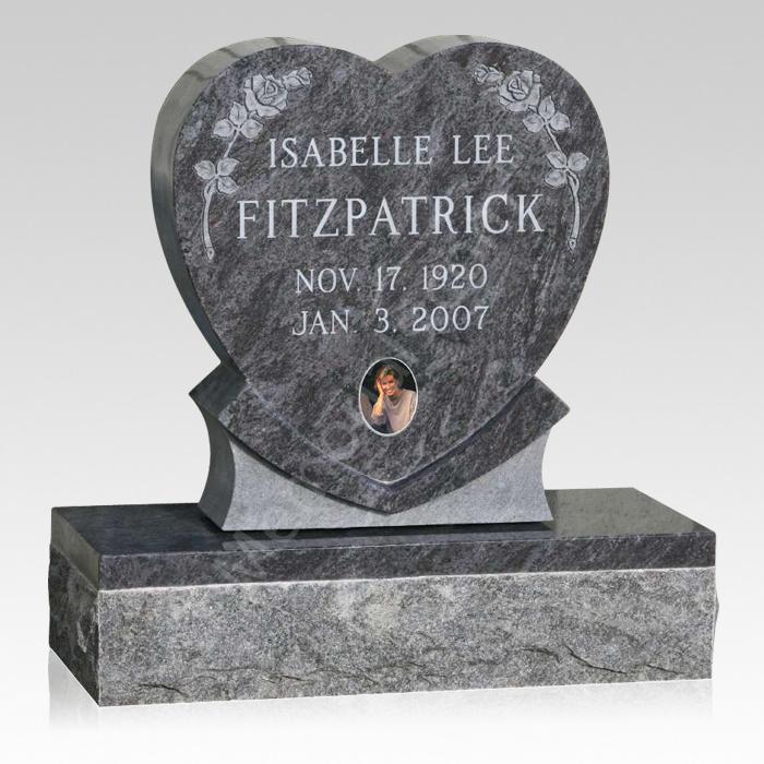 My Heart Upright Cemetery Headstone
