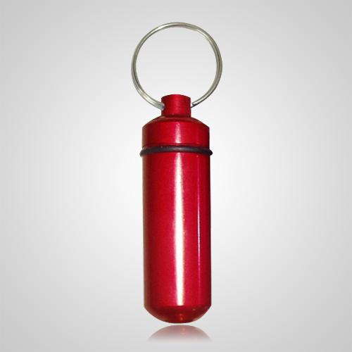 Red Pet Keepsake Keychain