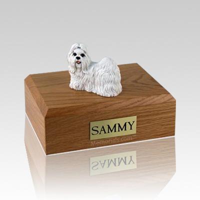 Shih Tzu White Large Dog Urn