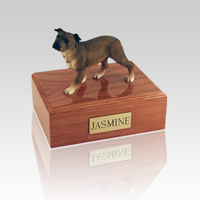Staffordshire Terrier Standing Medium Dog Urn