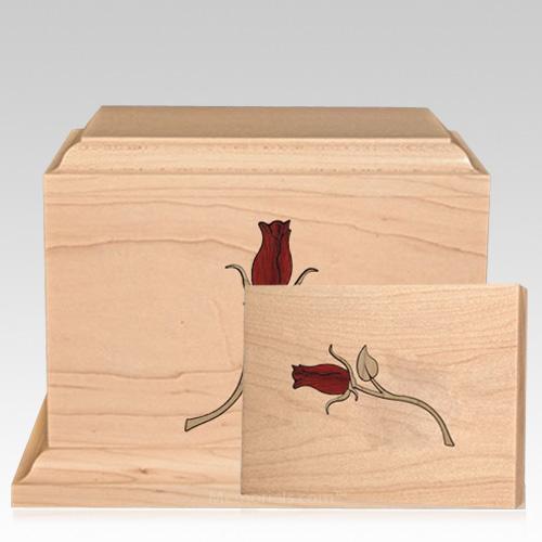 Tea Rose Children Wood Cremation Urns