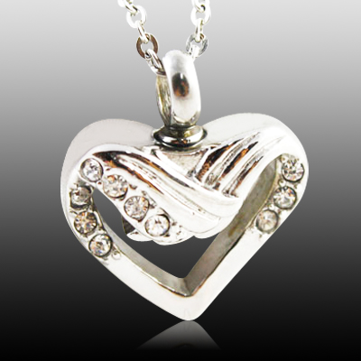 Winged Heart Cremation Jewelry