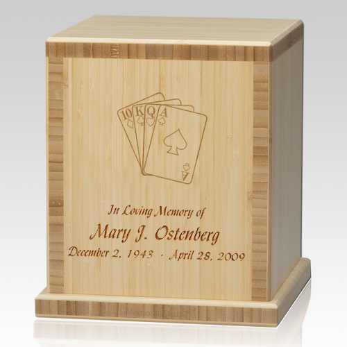 Cards Bamboo Natural Cremation Urn