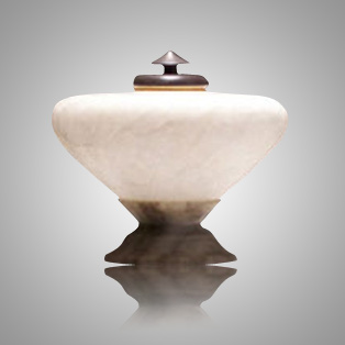 Italian Alabaster Pet Urn