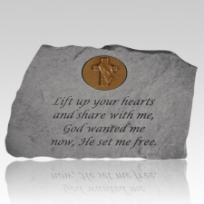 Lift Up Your Hearts Symbol Stone