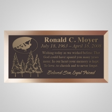 Adventurer Bronze Plaque
