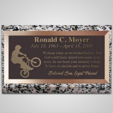 Wheelie Bronze Plaque