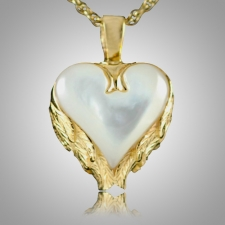 Angel Wings Heart Keepsake Pendant II
