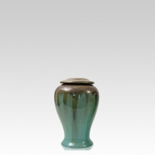 Green Meadows Keepsake Ceramic Urn