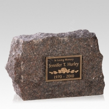 Rustic Elegance Cremation Stone Rock