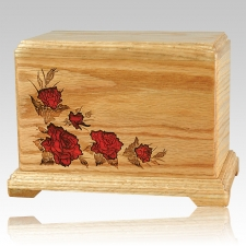 Red Roses Companion Cremation Urn