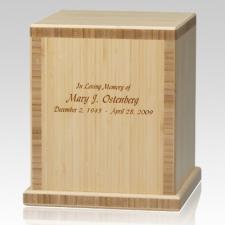 Light Bamboo Wood Cremation Urn