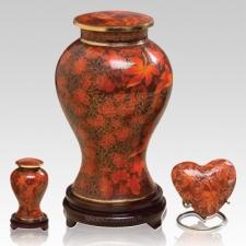 Autumn Splendor Cloisonne Cremation Urns