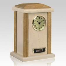 Marble Clock Earth Urn
