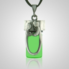Daddy & Child Green Cremation Necklace