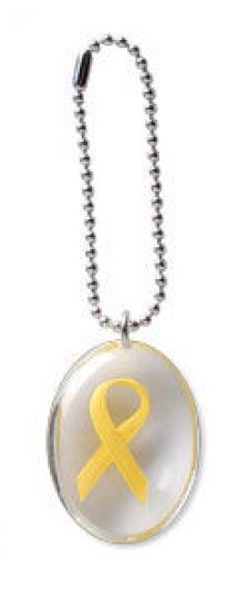 Yellow Ribbon Stone on a Chain