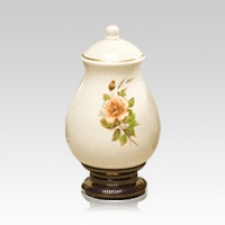 Yellow Rose Keepsake Ceramic Urn
