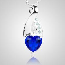Sapphire Crystal Eternity Keepsake Pendant