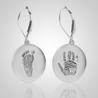 Ear Rings Print 14k White Gold Keepsakes