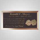Dice Bronze Plaque