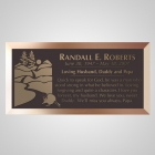 Racoon Bronze Plaque