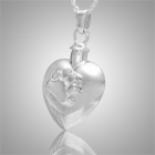 Paw Heart Pet Cremation Jewelry III