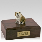 Bulldog Fawn Sitting Dog Urns