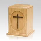 Country Cross Religious Urn