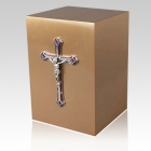 Crucifico Bronze Cremation Urn