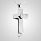 Diamond Cross Keepsake Pendant