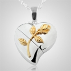 Heart Rose Keepsake Pendant