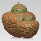 Jungle Ceramic Cremation Urns