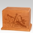 Melody Companion Mahogany Wood Urn