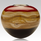Sphere Ruby Cremation Urn For Two