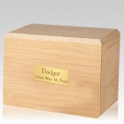 Simplicity Maple Large Pet Cremation Urn