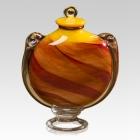 Sunset Glass Urn