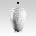 White Nebula Glass Cremation Urn