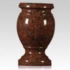 African Red Granite Vase