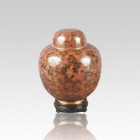China Red Cloisonne Keepsake Cremation Urns