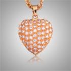Diamond Pavee Heart Keepsake Jewelry